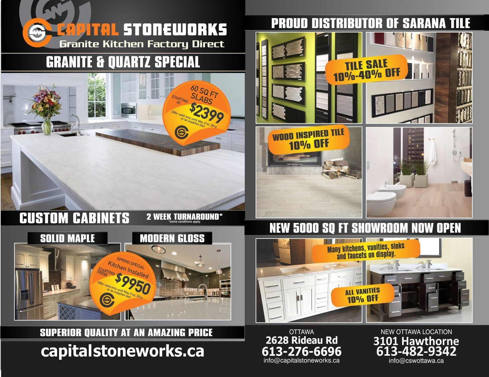 Granite Amp Quartz Countertops In Ottawa Capital Stoneworks